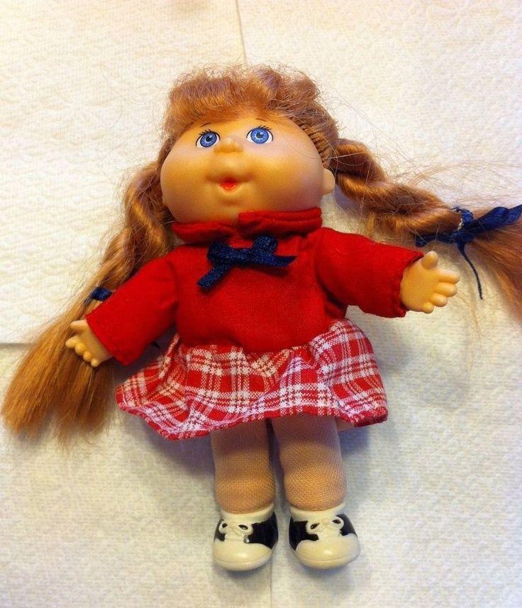 "Vintage 1995 Mattel Mini Cabbage Patch doll 5"" Xavier Roberts EUC #CabbagePatchKids"