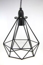 'Diamond Crow'. diamond shaped pendant light