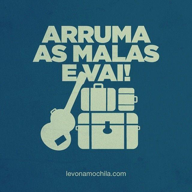 .@Levo na Mochila | Já sabe o destino? #levonamochila #malas #viagem #vai #travel #go #frases | Webstagram