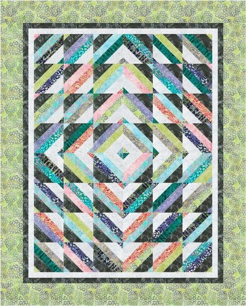 Tube Top designed by Cozy Quilt Designs. Features Artisan Batiks: Asian Legacy by Lunn Studios, shipping to stores January 2016. Roll up friendly! #artisanbatiks