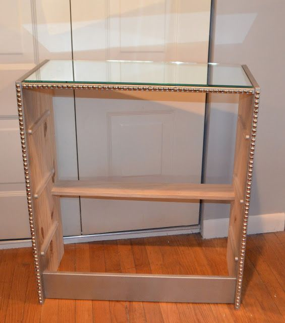 95 best diy mirrored furniture images on pinterest for How to make a mirrored nightstand diy