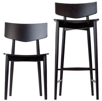 Uvu Stool | Furniture Options. European beech timber bentwood stool.