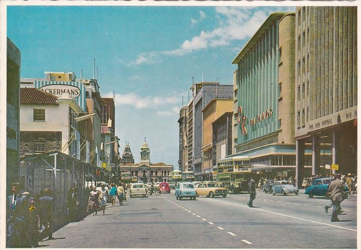 OLD LARGER TYPE PC FROM SOUTH AFRICA, PORT ELIZABETH, MAIN STREET, UNUSED.