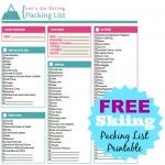 Pick up a FREE Ski Packing List Printable as well as other Packing Lists - Camping, Beach, Sleepovers, and Cruising.