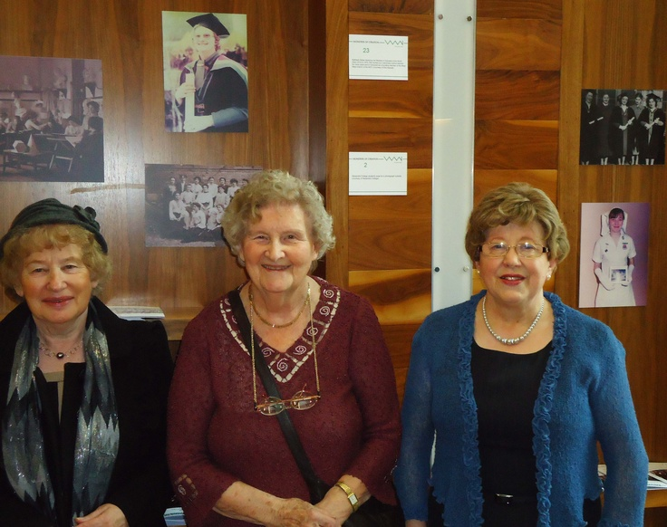 Josie Conway, Kathleen Ryder and Carmel Heneghan pictured at the 'Monsters of Creation' exhibition, March 2013