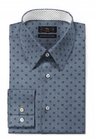 Blue micropattern 100% cotton Shirt: http://www.tailor4less.com/en-us/men/shirts/3129-blue-micropattern-100-cotton-shirt