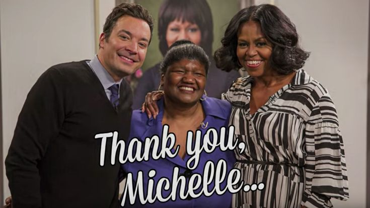 11jan2017---first lady michelle obama on her last appearance as first lady on late night with jimmy fallon