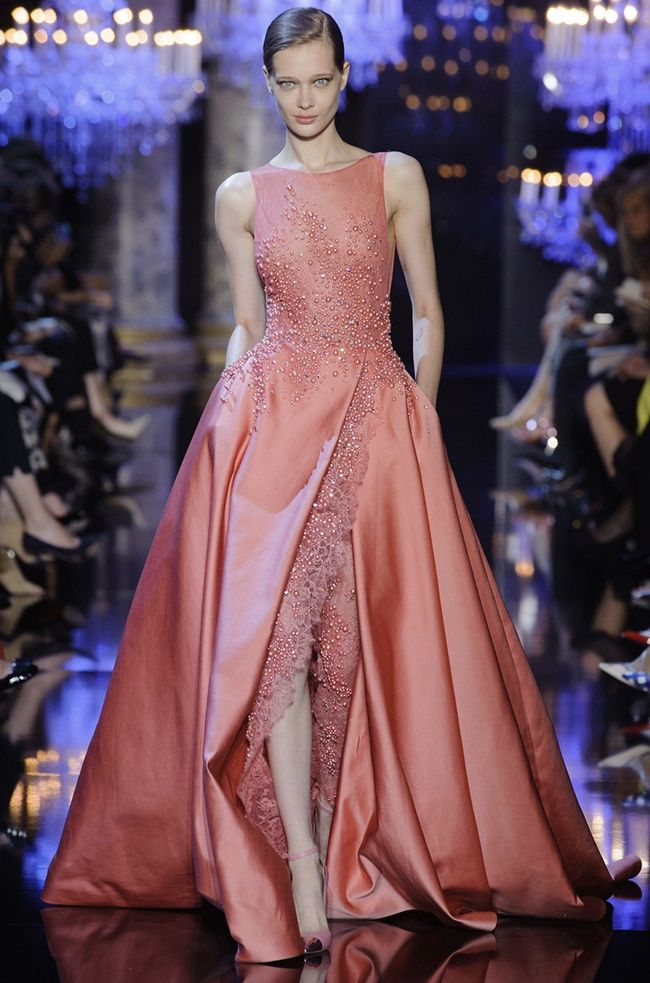 """"""" Elie Saab's Fall Couture Collection is an Ode to the City of Light """""""