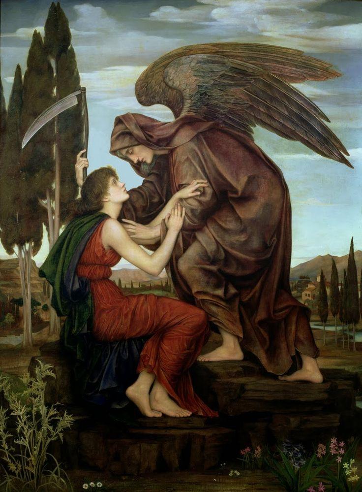 Angel of Death by Evelyn de Morgan, 1890