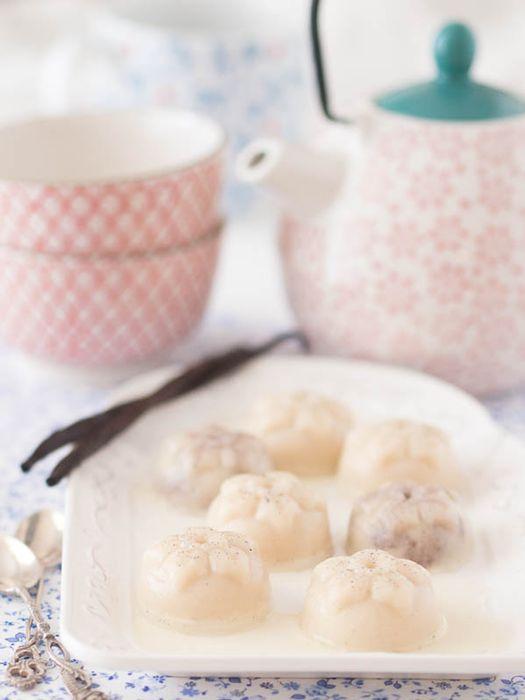 Coconut Milk Panna cotta with Vanilla and Honey