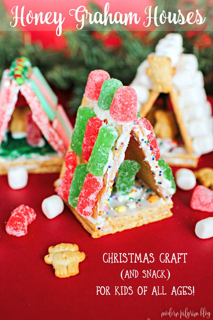 Put a spin on the Christmas tradition of making gingerbread houses. Make mini graham cracker houses instead. They're fun, snackable, and easy for kids!