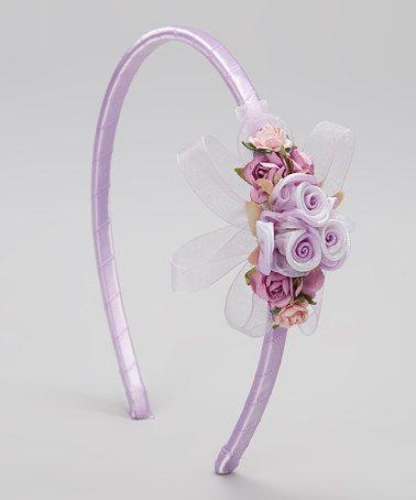 Look what I found on #zulily! Lavender Flower & Ribbon Headband by Kid's Dream #zulilyfinds