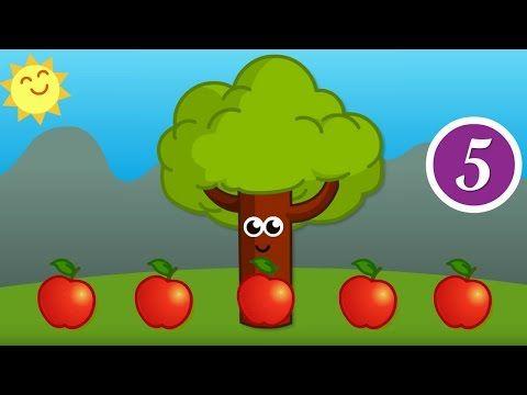 Cinc pometes té el pomer Cançó infantil amb lletra - YouTube