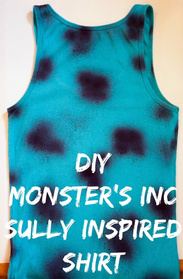 """DIY Monsters Inc Sully Shirt is inspired by Sully from Monsters Inc. This shirt is a great way to """"Disney Bound"""" while you are at Disney World."""