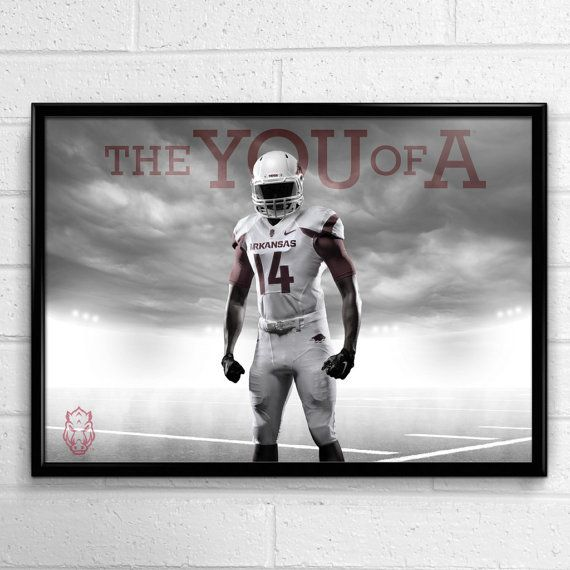 Arkansas Razorbacks Football Poster You of A by SportPostersUSA