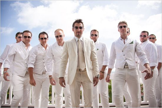 all white groomsmen - Elegant Hotel Del Coronado Wedding -Shewanders Photography on Wedding Chicks