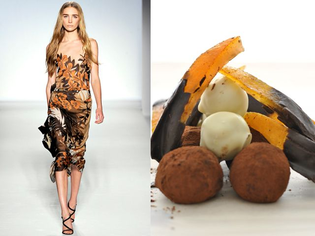 Alberta Ferretti ss 2012 / Chocolate truffle and orangettes salad