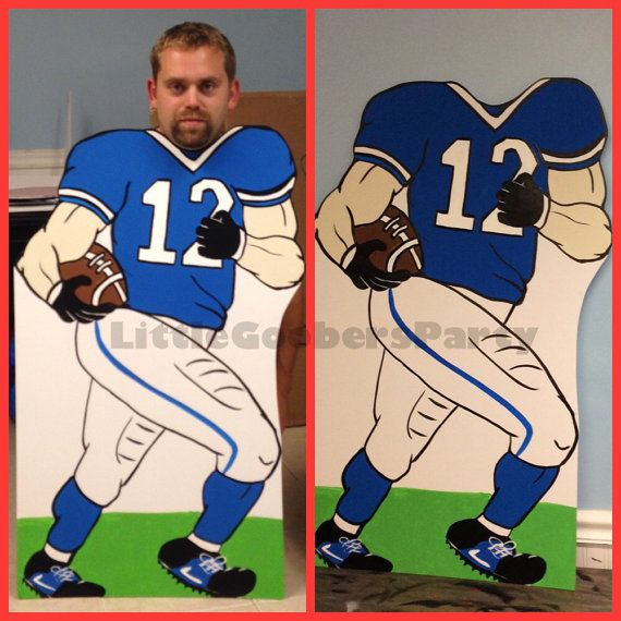 Football Photo Booth Prop . Football Player Standee . Super Bowl Stand-in