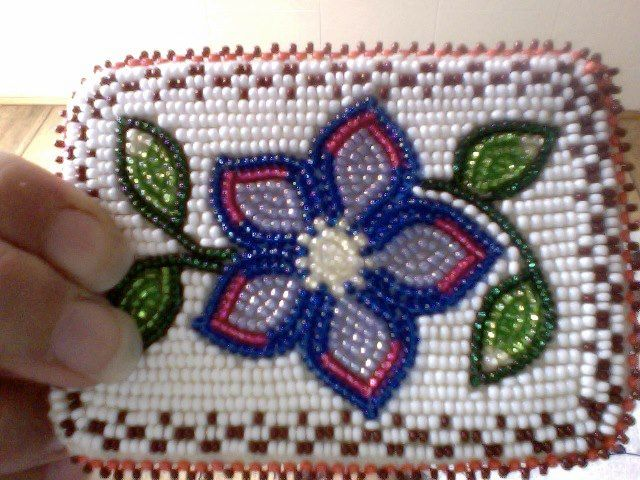 Inuit beaded card holder by Helen Okhina Blewett