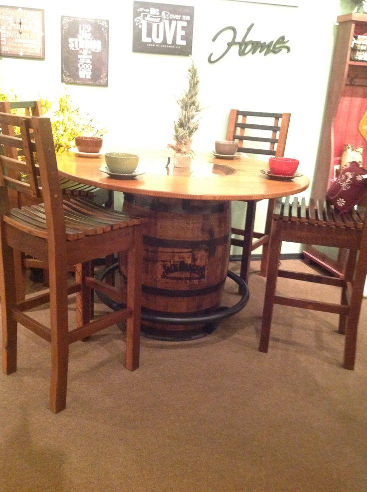jack daniels barrel table granny annie 39 s amish furniture. Black Bedroom Furniture Sets. Home Design Ideas