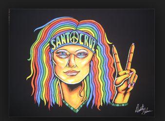 hippie-tekening