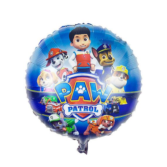 You will receive: Paw Patrol Balloon  QTY: 1  Dimensions: 18  NOTE: Balloons arrive un-inflated