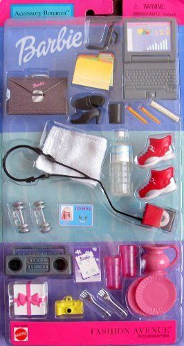 Barbie Fashion Avenue ACCESSORY BONANZA w BUSINESS & PARTY Accessories (2001) by Mattel. $39.99