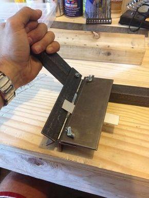 Metal bender on instructables