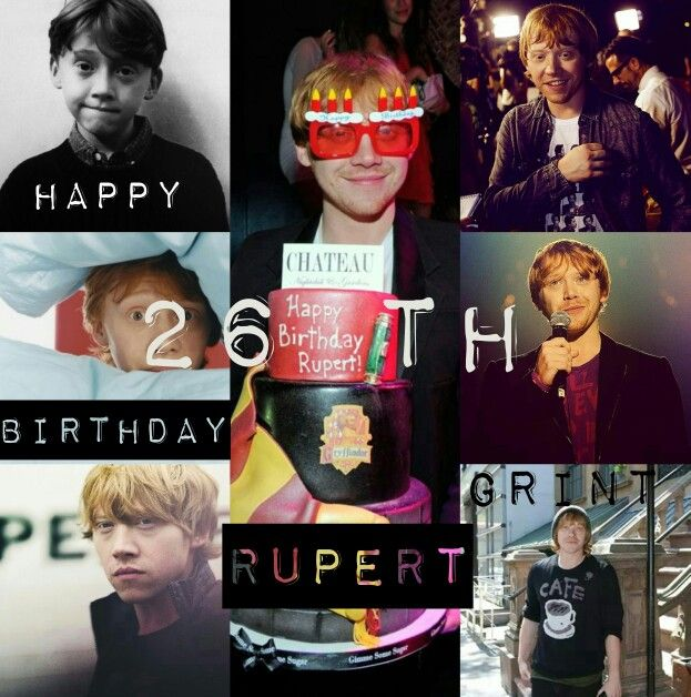 Happy 26 th Birthday #RupertGrint!! I love you, have a nice day with the people that you love, please, Marrie me xD ❤