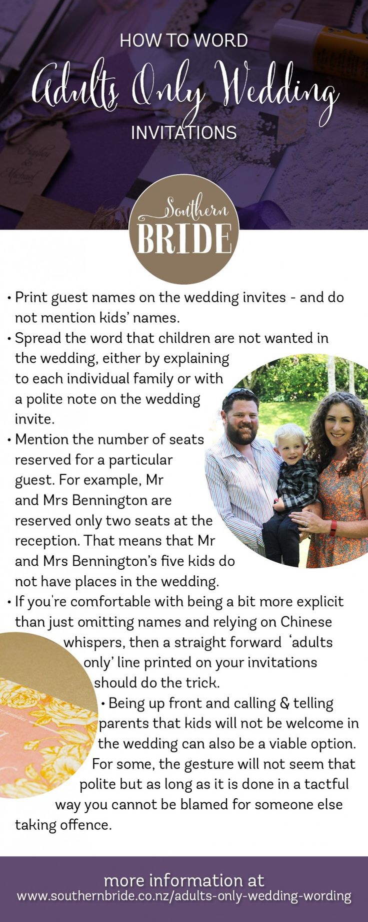 how to word evening wedding reception invitations%0A How to tell guests you are having an adults only wedding