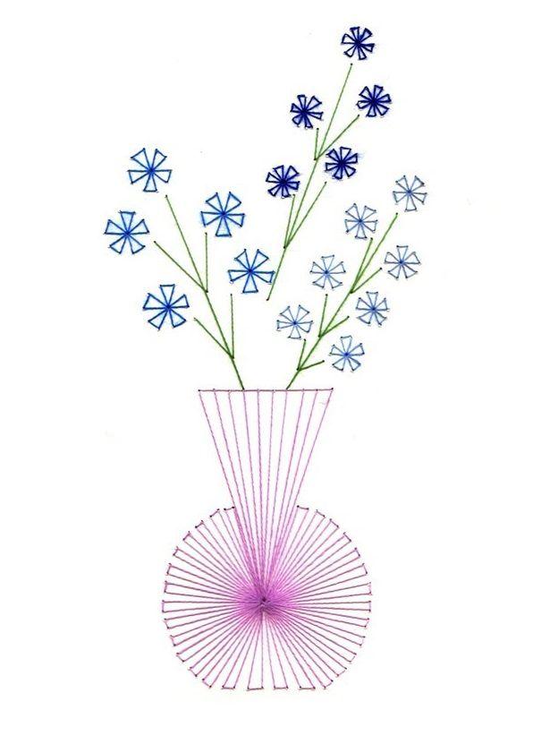 Изонить схемы для начинающих картинки с цветами