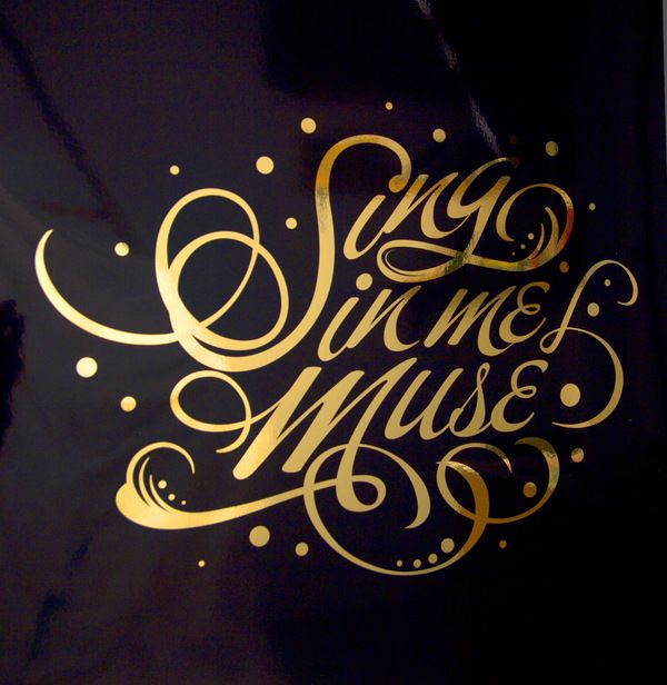 Sing in Me Muse by Mike Kammerling, via Behance