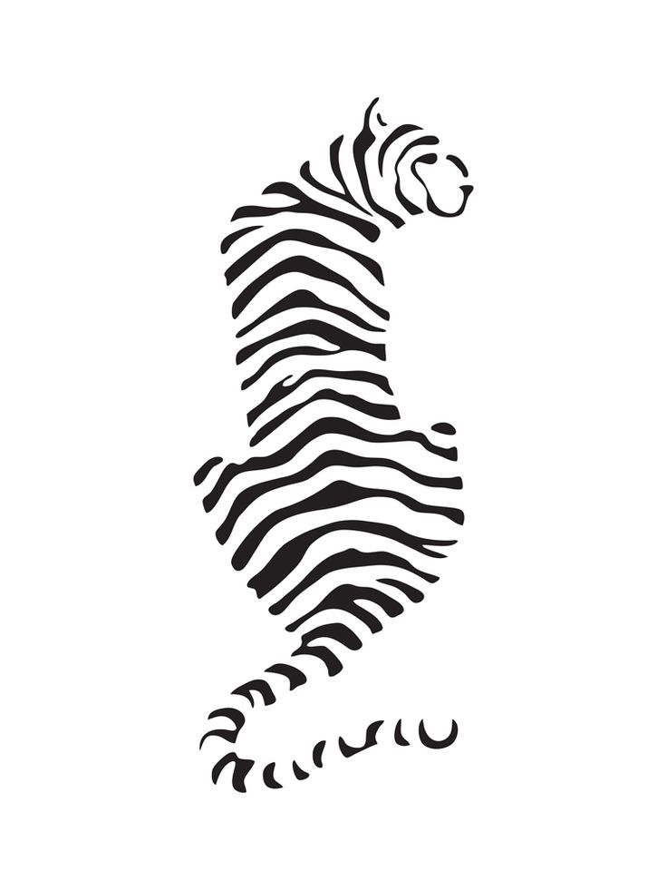 Image result for minimalist line drawing tiger tattoos