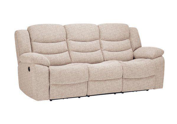 Beige Fabric Sofas 3 Seater Electric Recliner Sofa Grayson Range Oak Furnitureland Reclining Sofa Beige Fabric Sofa Recliner