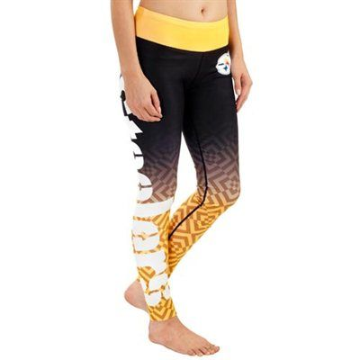 Pittsburgh Steelers Women S Black Gradient Leggings