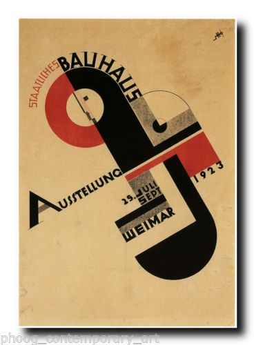 RETRO ART DECO poster print in 3 size options (REF#140 ) Bauhaus modernist