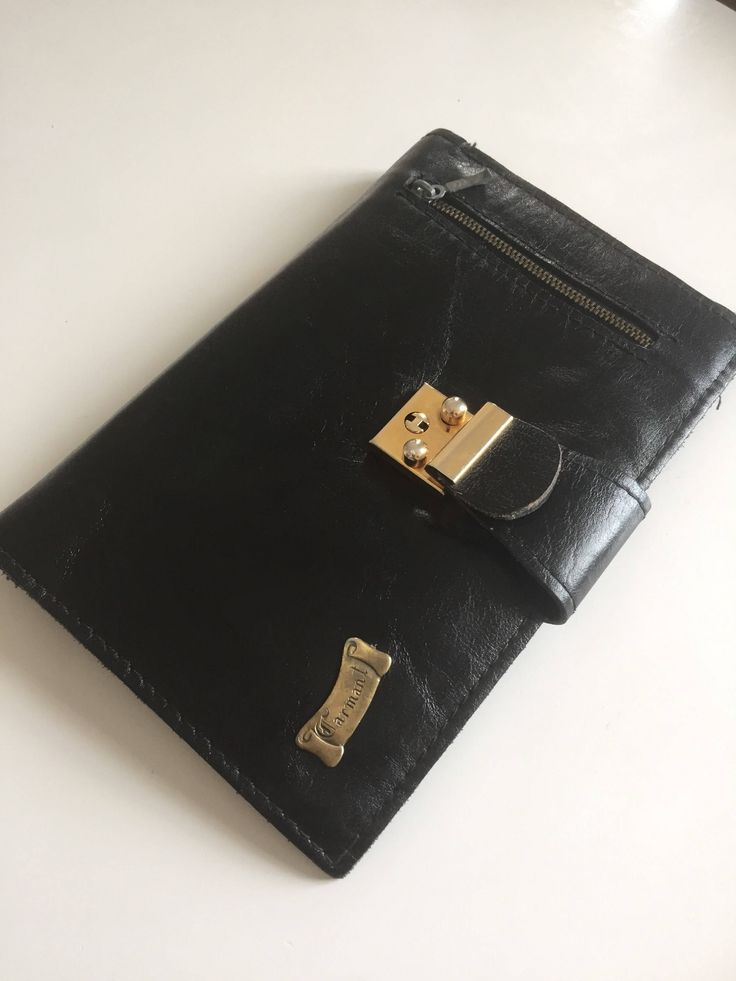 Genuine/leather/vintage wristlet/passort/carrier/travel wallet by WifinpoofVintage on Etsy