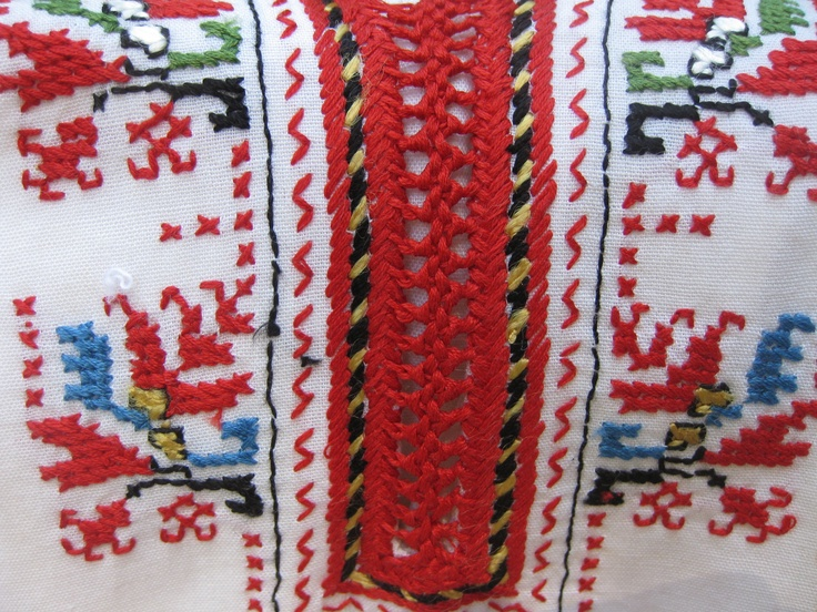 Embroidered by my Bulgarian grandmother.