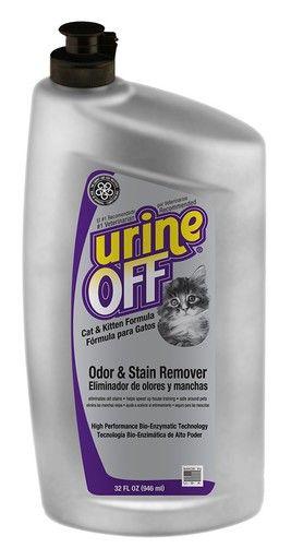 Urine Off Cat & Kitten Formula Bottle with Carpet Injector Cap Odor Remover 32oz