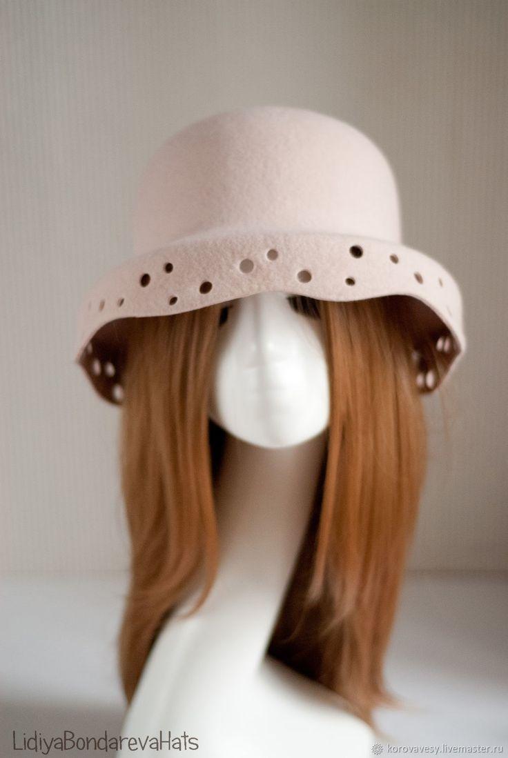 Шляпы ручной работы. Ярмарка Мастеров - ручная работа. Купить НЕЖНЫЙ КАПРИЗ. Handmade. Нежность, шляпка, клош, каприз