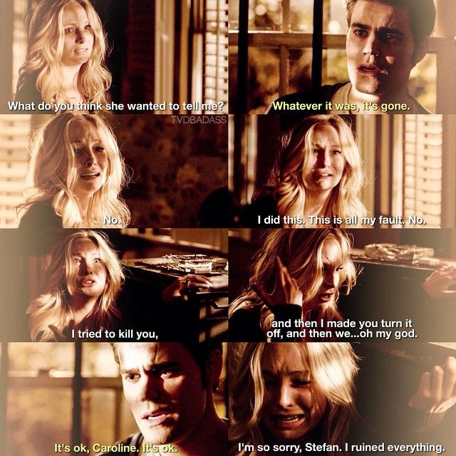 #TVD 6x19 This scene broke me wee heart. They have been through too much to not give it a go. Ghey are perfect for each other! !