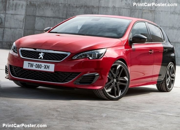Peugeot 308 GTi 2016 poster, #poster, #mousepad, #tshirt