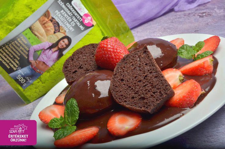 Szafi Fitt szénhidrátcsökkenett gluténmentes, tejmentes PALEO kakaós muffin (hozzáadott cukortól mentes, szójamentes)