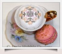 How To Make a Teacup Pin Cushion - with downloadable chart.