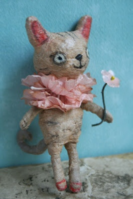 wee spun cotton kitten  by julie collings