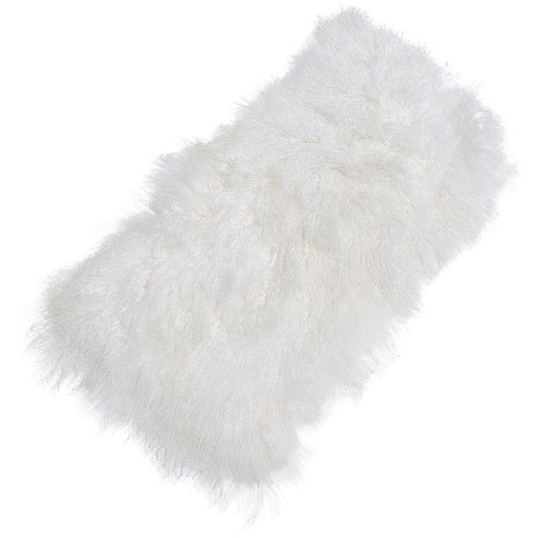 Palecek Mongolion White Sheepskin Rug ($761) ❤ liked on Polyvore featuring home, rugs, animal rugs, sheep skin rug, white area rug, animal area rugs and palecek