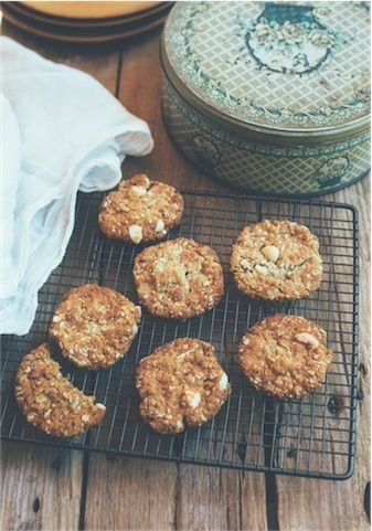 Macadamia and lemon myrtle 'Anzac' biscuits