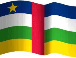 Zentralafrikanische Republik Flagge wehend animiert, Größe 262x200 Pixel, 222.18KB kostenlos downloaden | flaggenbilder.de
