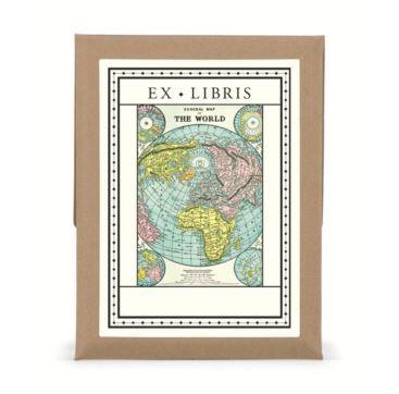 Bookplates The World - Bobangles #Cavallini #vintage #map #world #bookplates #gift #stationery