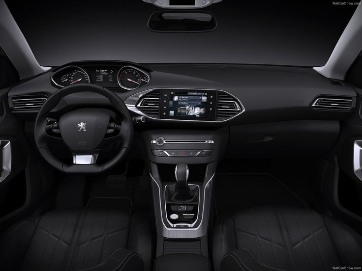the new peugeot 308 interior! check out cd slot, hand brake switch and screen